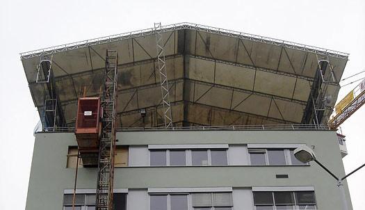 Olšanská – zastrešenie stavby WACO