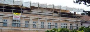 Zastrešenie stavieb WACO, fasádne lešenie