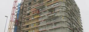 Developerský projekt, zatepľovanie fasády – fasádne lešenie