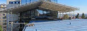 Fasádne lešenie, zastrešenie stavieb WACO